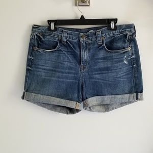 J. Crew roll up blue jean shorts 30
